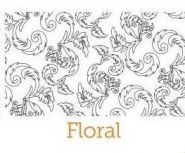 Floral embossing pattern for the dimension doormats by everything doormats.