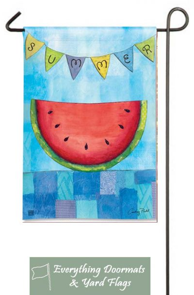 "Summer Slice Breeze Art 12.5"" x 18"" garden flag made by Magnet Works image by Everything Doormats."