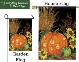 Garden flag and house flag of the fall favorites collection.