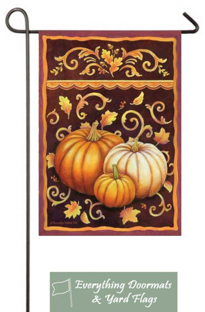 Fall Pumpkins Graden Flag in 12.5 x 18 inch size.