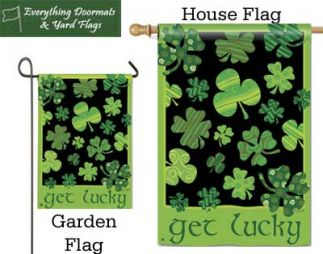 Get Lucky Breeze Art garden flag (32010) and house flag (92010) ombo image.