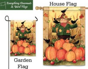Give Thanks Pumpkins Breeze Art by Magnet works garden flag and house flag combo image.