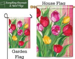 Glorious Garden Breeze Art garden flag & house flag combo image created by Everything Doormats.