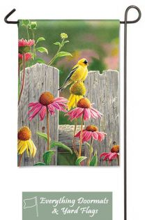 Goldfinches and Coneflowers Breeze Art 12.5