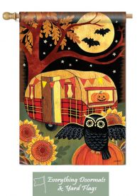 Halloween Camper Breeze Art by MAgnet Works House Flag 28 x 40.