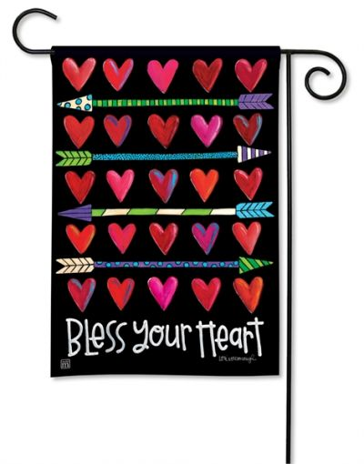 Hearts and Arrows Breeze Art garden flag by Magnet Works.
