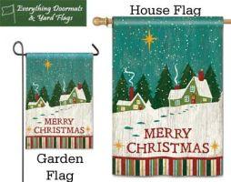 Home for Christmas breeze art garden flag and house flag combo image.