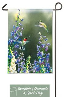 Hummingbird Garden Breeze Art 12.5