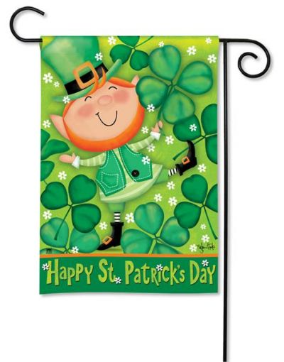 Leprechaun Breeze Art Garden flag image by Everything Doormats.